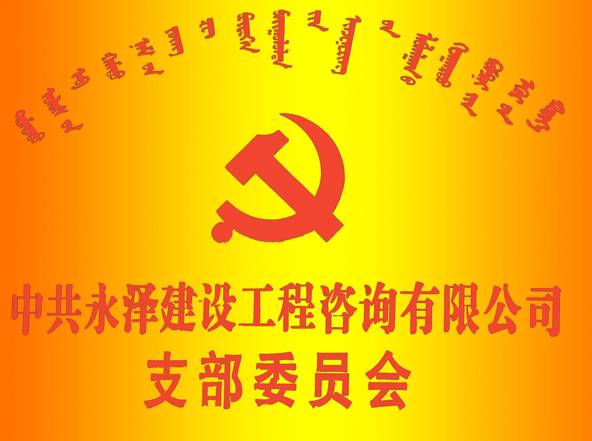 中共内蒙古永泽建设工程项目管理 有限公司党支部2016年成立